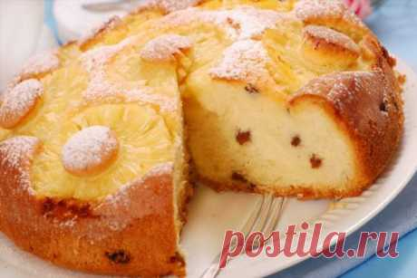 Рецепт весеннего десерта с кусочками ананаса . Милая Я