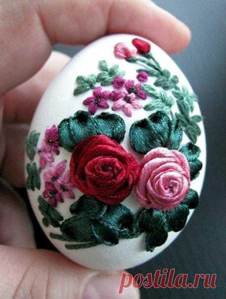 Мастер-класс: вышивка на яйцах — Мастер-классы на BurdaStyle.ru
