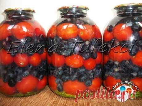 Помидоры с виноградом на зиму (МК от Елены) » Арт-кухня