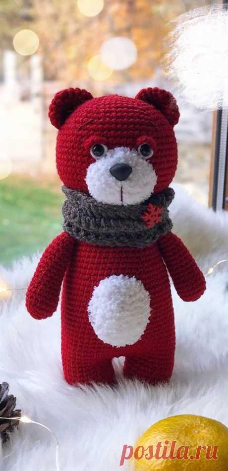 PDF Медвежонок крючком. FREE crochet pattern; Аmigurumi doll patterns. Амигуруми схемы и описания на русском. Вязаные игрушки и поделки своими руками #amimore - медведь, медвежонок, мишка.