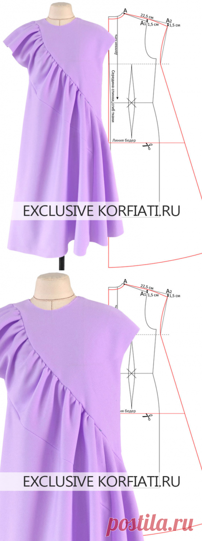 Выкройка платья-балахон от Анастасии Корфиати