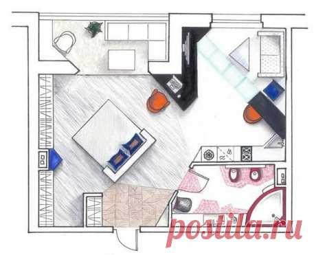 Золотые правила расстановки мебели  Первым делом измерьте длину и ширину вашей комнаты, а также всю мебель, которую планируете в ней разместить. После этого отобразите план на миллиметровке, приняв масштаб 1:3. Отдельно на листе бумаге нарисуйте предметы мебели, соблюдая пропорции, и аккуратно вырежьте каждый из них. Теперь вы можете свободно прикладывать бумажные макеты, пока не найдете наиболее приемлемый для себя вариант. Или воспользуйтесь специальной компьютерной прог...