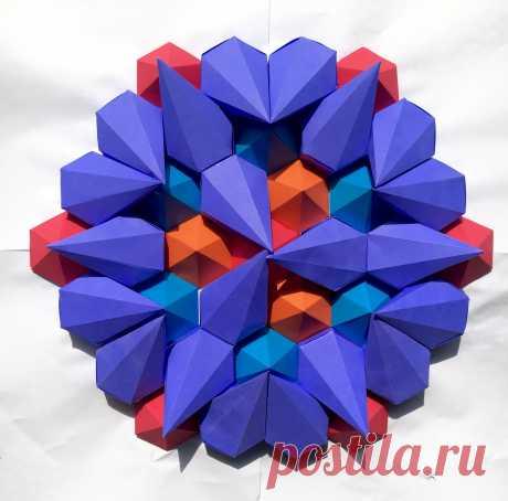 Mathematical Inspired 3D Paper Kaleidoscope Tessellations by Brandon Clark | strictlypaper