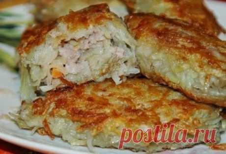 Лучшие кулинарные рецепты: Картофельные зразы с мясным фаршем