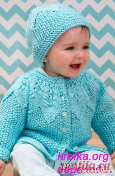 Вязаные шапочка и кофточка для малыша Baby - Вязание - Страна Мам