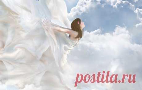 Уставший ангел шел по белым облакам... (Елена Бурда)