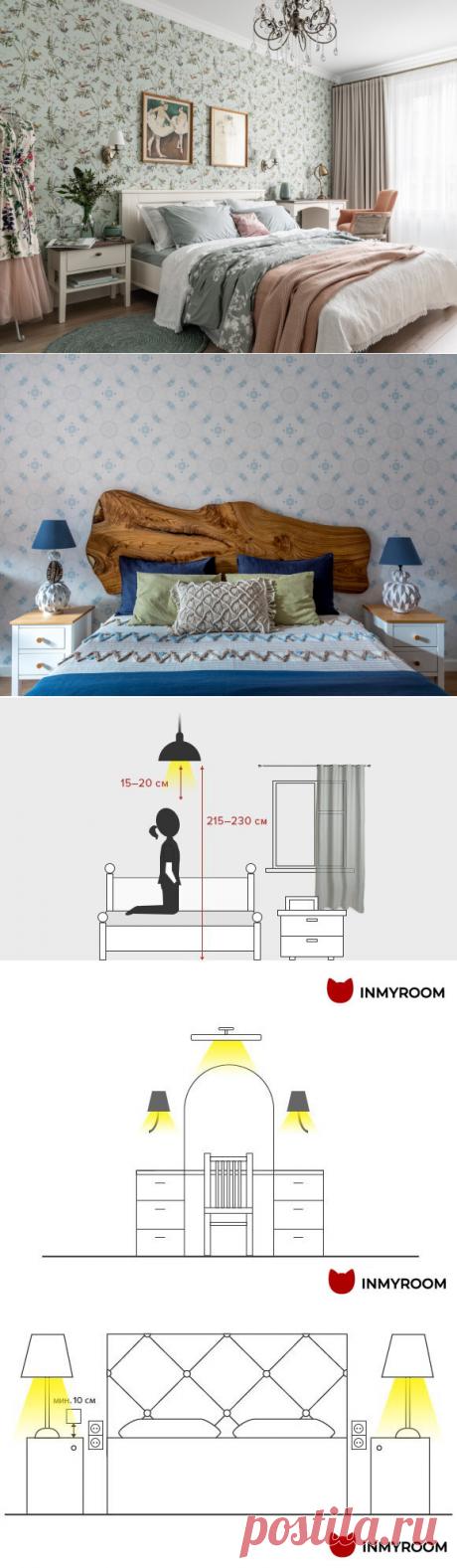 Где повесить светильник в спальне, а ещё нужны ли бра и лампы у кровати? | INMYROOM.RU | Яндекс Дзен