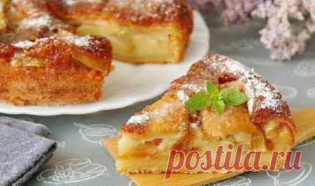 Супер воздушный яблочный пирог   Nadinka   Яндекс Дзен