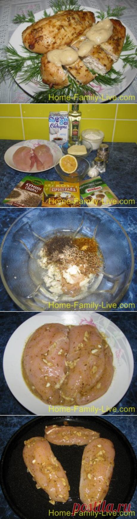 Запеченная куриная грудка - пошаговый фоторецептКулинарные рецепты