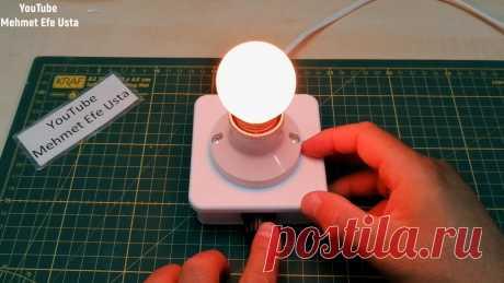 Простой прикроватный светильник на 220В с регулировкой яркости Приветствую всех любителей помастерить, предлагаю к рассмотрению инструкцию по изготовлению простой лампы из готовых деталей, которые можно найти в строительном магазине. Стоит все недорого, а в итоге получается прикроватная лампа-ночник с довольно приятным свечением.Источником света является лампа