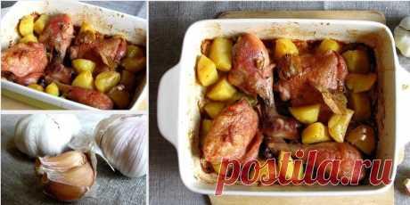 Как приготовить кролик запеченный с картофелем - рецепт, ингредиенты и фотографии