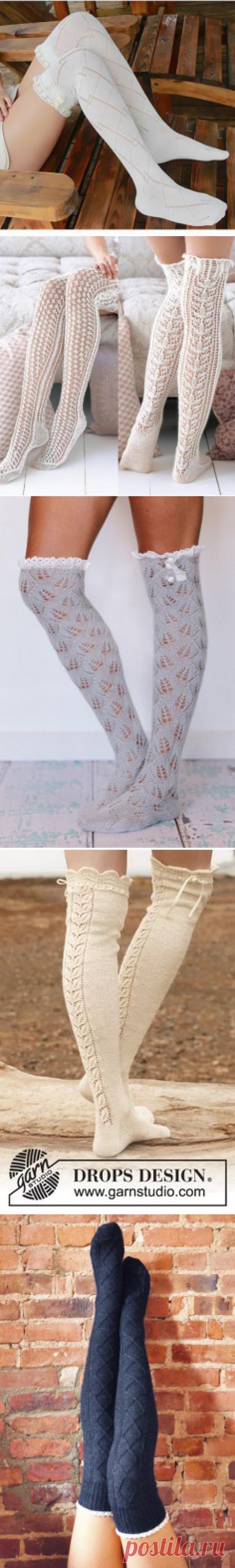 Вязаные чулочки - пикантная деталь женского гардероба