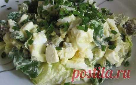 Диетический салат на ужин с курочкой! - Счастливые заметки