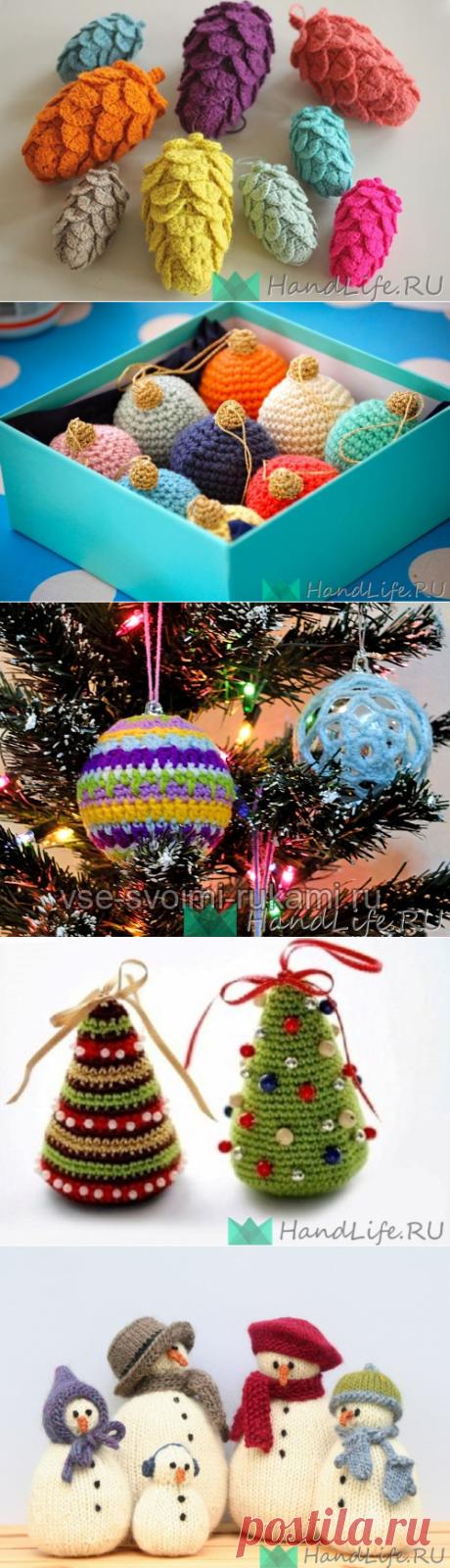 Вязаные игрушки на елку (обзорное видео) / Новый год!