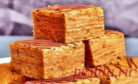 Быстрый торт на сковороде с вареной сгущенкой и сметаной | Рецепты на SuperKuhen.ru