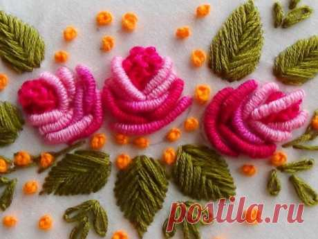 Вышивка швом рококо: Объемная декоративная вышивка Вышивка швом рококо позволяет создавать красивую объемную вышивку. Пошаговое описание выполнения шва рококо. Схемы