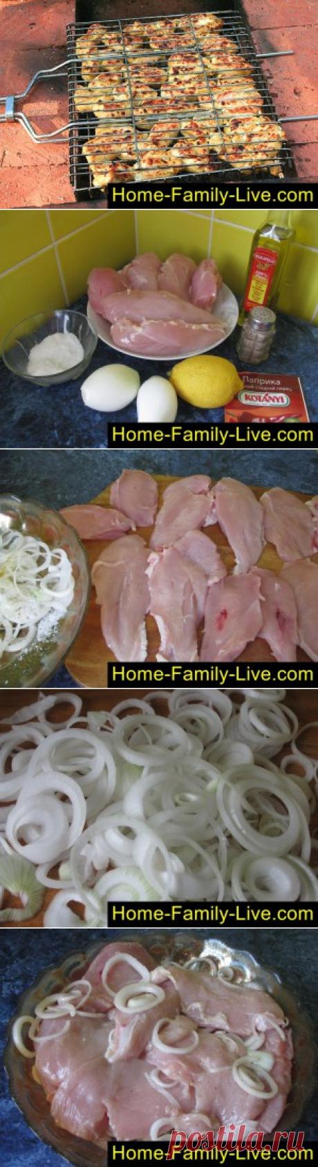 Шашлык из куриной грудки/Сайт с пошаговыми рецептами с фото для тех кто любит готовить