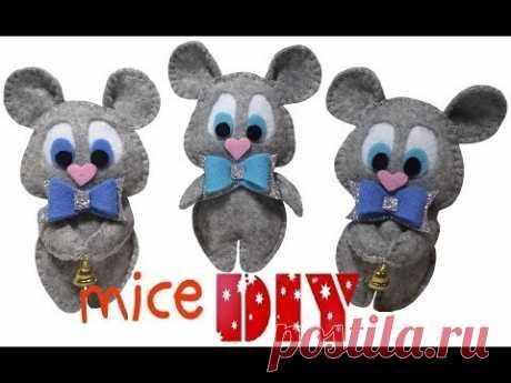 Felt mouse / Мышка из фетра своими руками/A mouse 2020 /Символ 2020 года своими руками/ Мышь МК