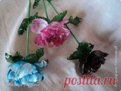 Цветы из пластиковой бутылки/Flowers from a plastic bottle. ХоббиМаркет