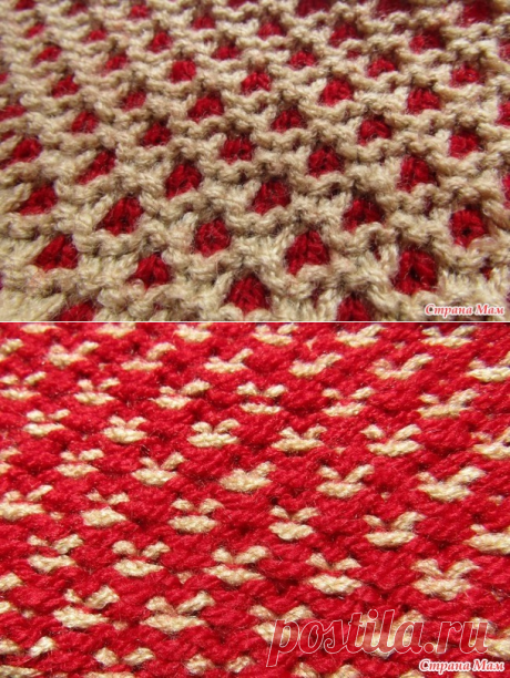 """Pattern \""""Honeycombs for mittens\"""" (lazy Jacquard)"""