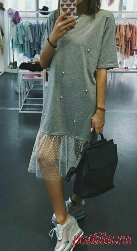 Шьём красивое платье из футболки и отреза яркой ткани. 5 идей для жаркого лета. | Провинциалка в теме | Яндекс Дзен