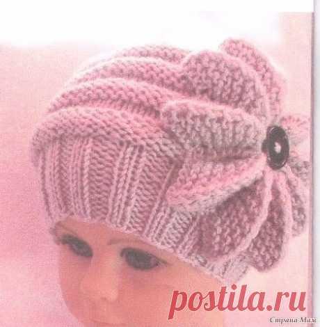Описание вязания шапки для девочки (Вязание спицами) – Журнал Вдохновение Рукодельницы