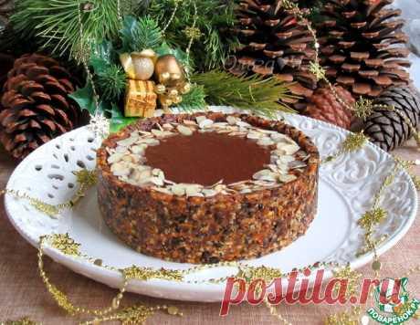 Шоколадно-ореховый постный торт – кулинарный рецепт