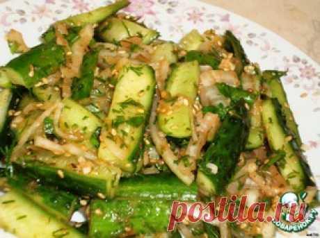 Острые огурцы по-корейски - кулинарный рецепт