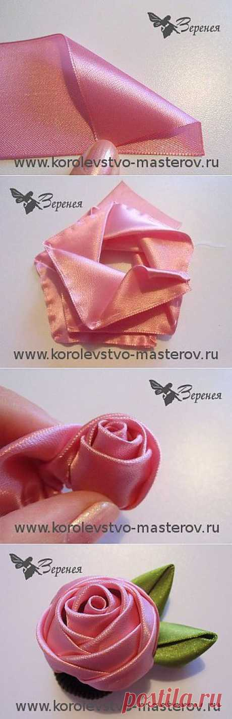Rose from a satin ribbon. Master class: How to make a rose from a satin ribbon with own hands.
