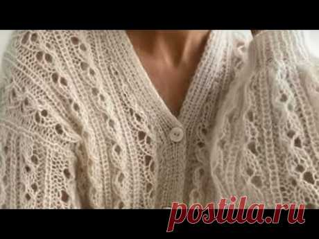 Модная. Изящная. Женственная Французская кофточка из любой пряжи спицами. МК Узор для жакета