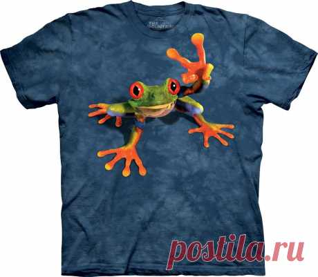 АРТ № 103118 Футболка The Mountain - Victory Frog Бесшовная футболка -варенка 100% хлопок Размеры Детские + Взрослые  S, M, L,XL, XXL, XXXL Рисунок нанесен красками на водной основе. Не выгорает, не тянется