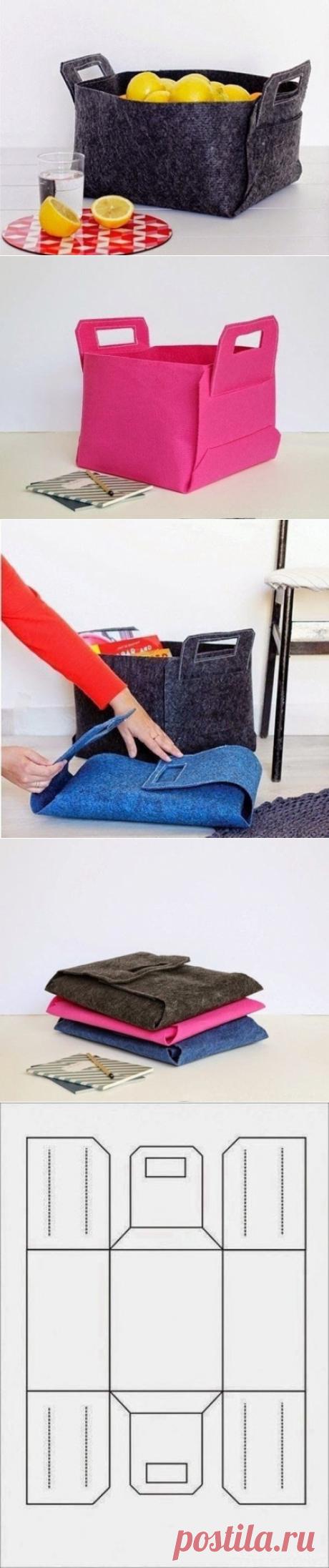 Делаем складную сумочку для разных мелочей - очень удобно!