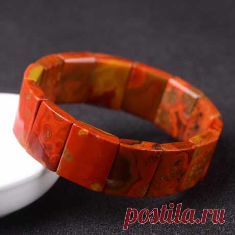 Warring States Red Men's wide bracelet / wide bracelet / unique bracelet / elastic bracelet / bracelet cuffs Product Details:  Material: Warring States Red  Color: red  shape: rectangle  Size: single piece width about 15mm, height about 21mm  Translucent: opaque  Symbol: Good luck to you