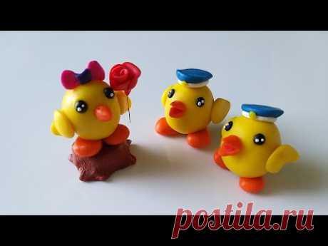 Как слепить Цыпленка 🐥 из мастики или пластилина (Cake/Fondant Topper - Chicken). - YouTube
