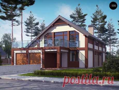 Просторный современный дом Zx50 элегантного дизайна с террасой над гаражом