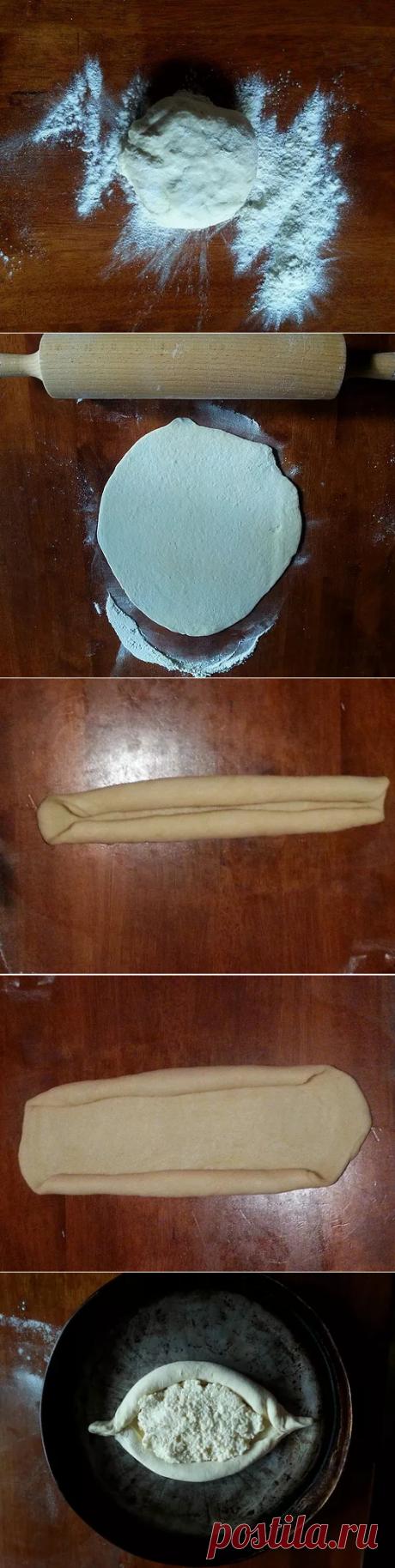 Аджарские хачапури. Рецепт Тинатин Мжаванадзе (Tinatin Diaz ).  главный секрет успеха хачапури - чтоб сыр в бортиках тоже был