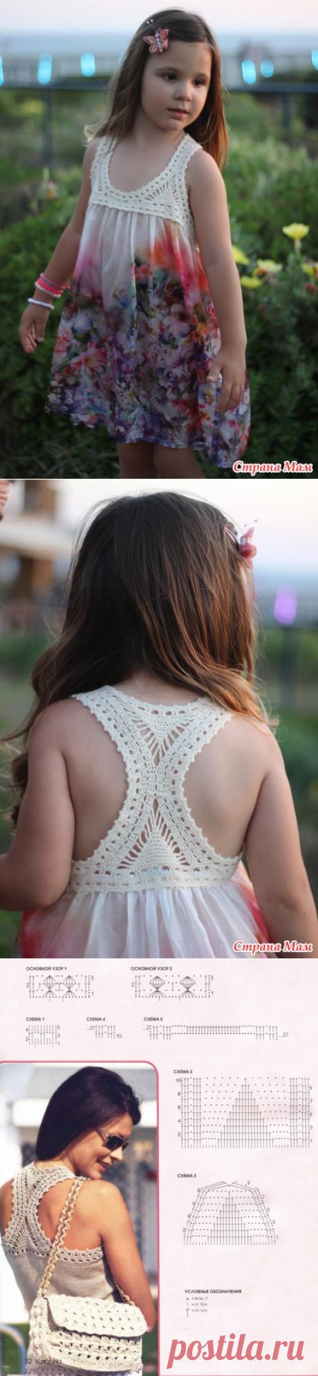 Комбинированное платье для Михаль - Вязание для детей - Страна Мам
