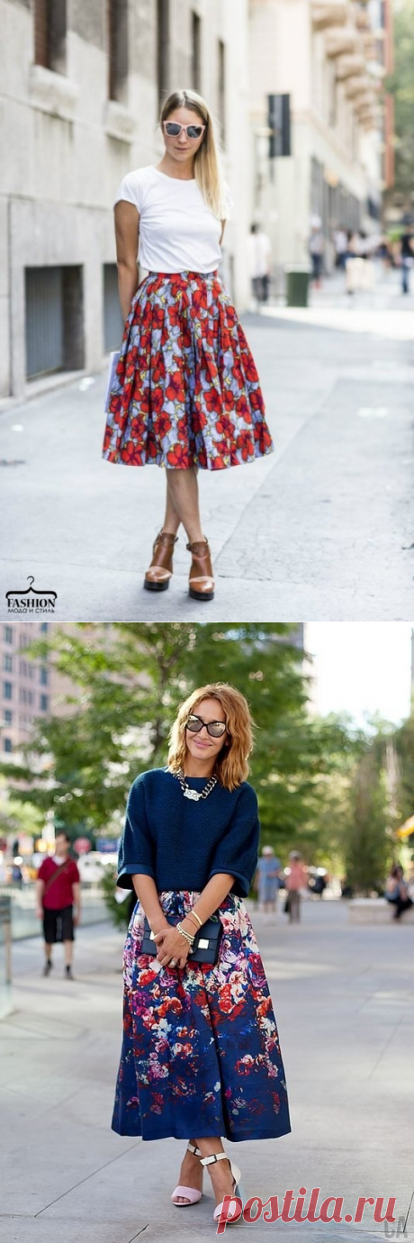 Stylish short skirts with a flower print
