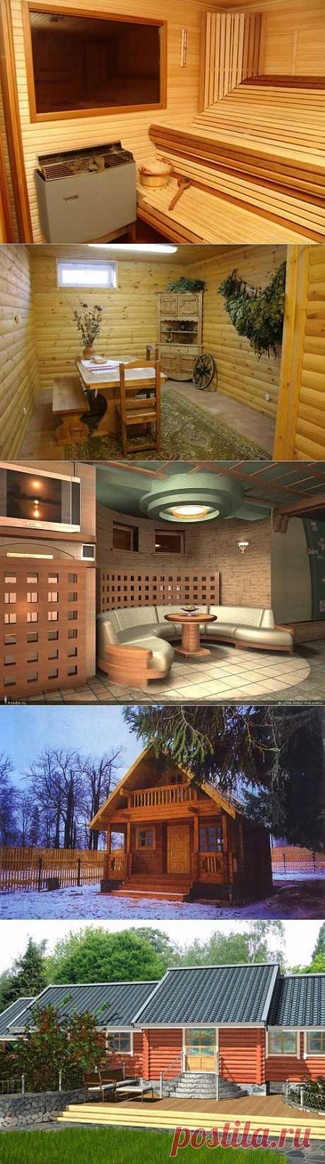 Внутренний дизайн и интерьер русской бани и сауны, фотографии и проекты, внутренняя отделка комнат отдыха, парилки и предбанника на фото