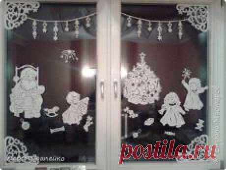 Поиск на Постиле: украшаем окна к Новому Году