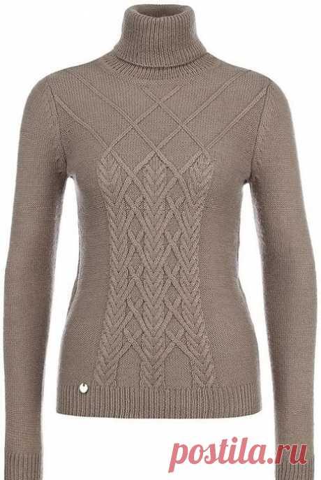 Идея изысканного сочетания узоров для благородного пуловера — Сделай сам, идеи для творчества - DIY Ideas
