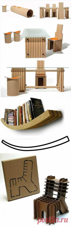 Мебель из картона: выкройки и видео | Всё самое интересное!