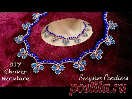 Clover ☘️ Choker Necklace    DIY Beaded Necklace