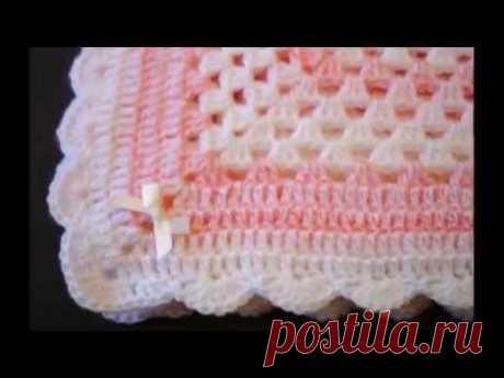 mantas para bebe tejidas crochet parte 1