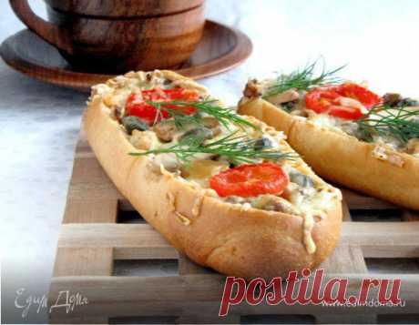 Как приготовить Мини-багеты, фаршированные курицей и грибами Пошаговый рецепт с ингредиентами и фото