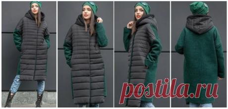 Выкройка модного комбинированного пальто / Простые выкройки / ВТОРАЯ УЛИЦА - Выкройки, мода и современное рукоделие и DIY