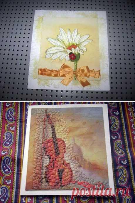 декупаж открытки, яичная скорлупа