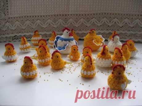 Мастер-класс цыпляток-сувениров к Пасхе