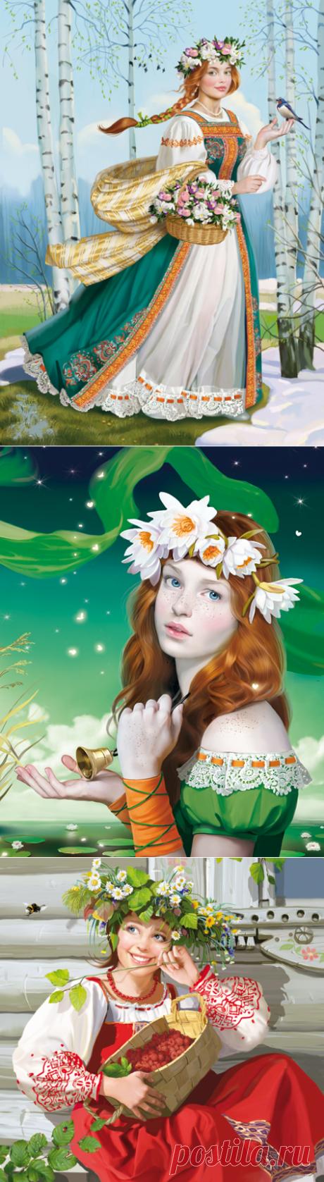 💐Прекрасна девушка Весна!... Художница Data Доронина Татьяна