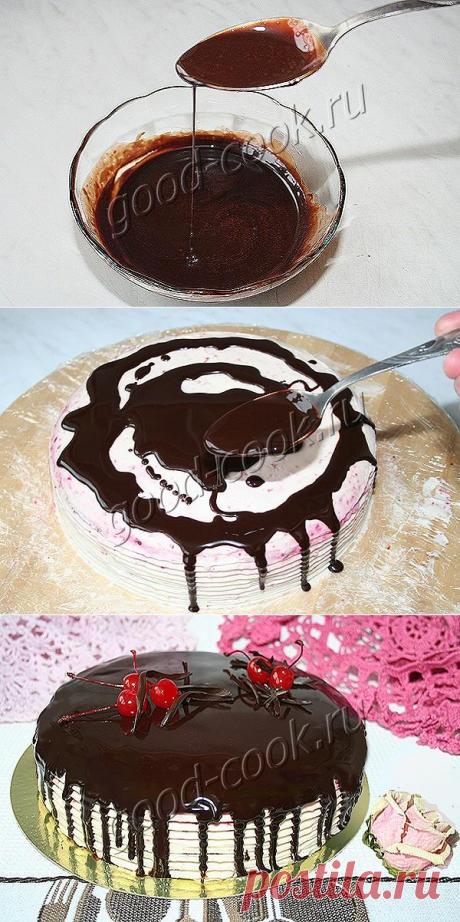 Зеркальная шоколадная глазурь. Рецепт приготовления